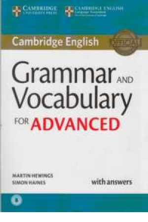 cam.grammar and vocabulary for advanced+cd