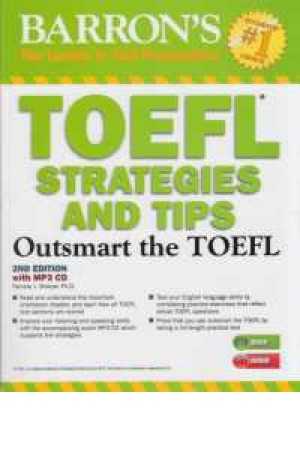 barrons toefl strategies and tips+cd