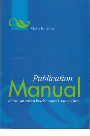 A P A publication manual